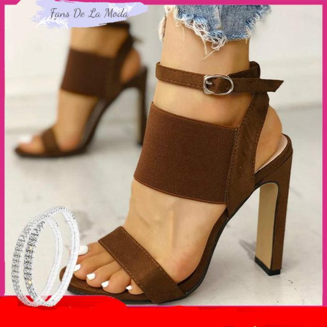 Nuevas sandalias de verano para mujer, sandalias con tacón de 9cm para mujer.Zapatos de mujer de tacón alto